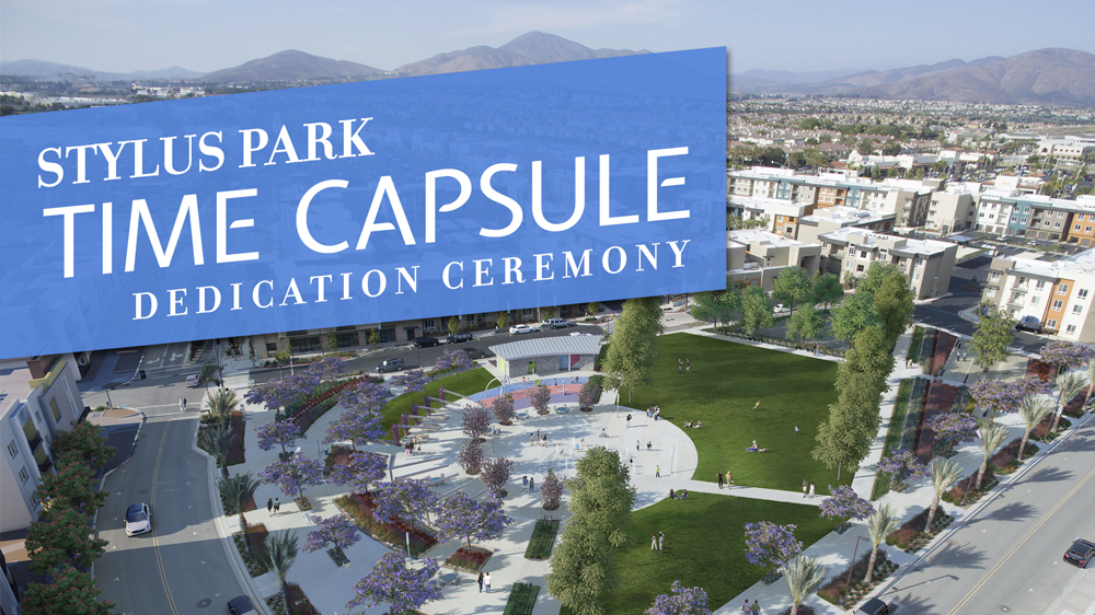 Stylus Park Time Capsule Dedication to be held during Fall