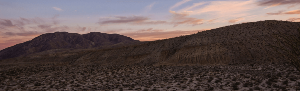 sunset at anza-borrego desert state park