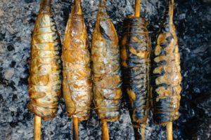 five kebabs