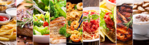 variety of food panels